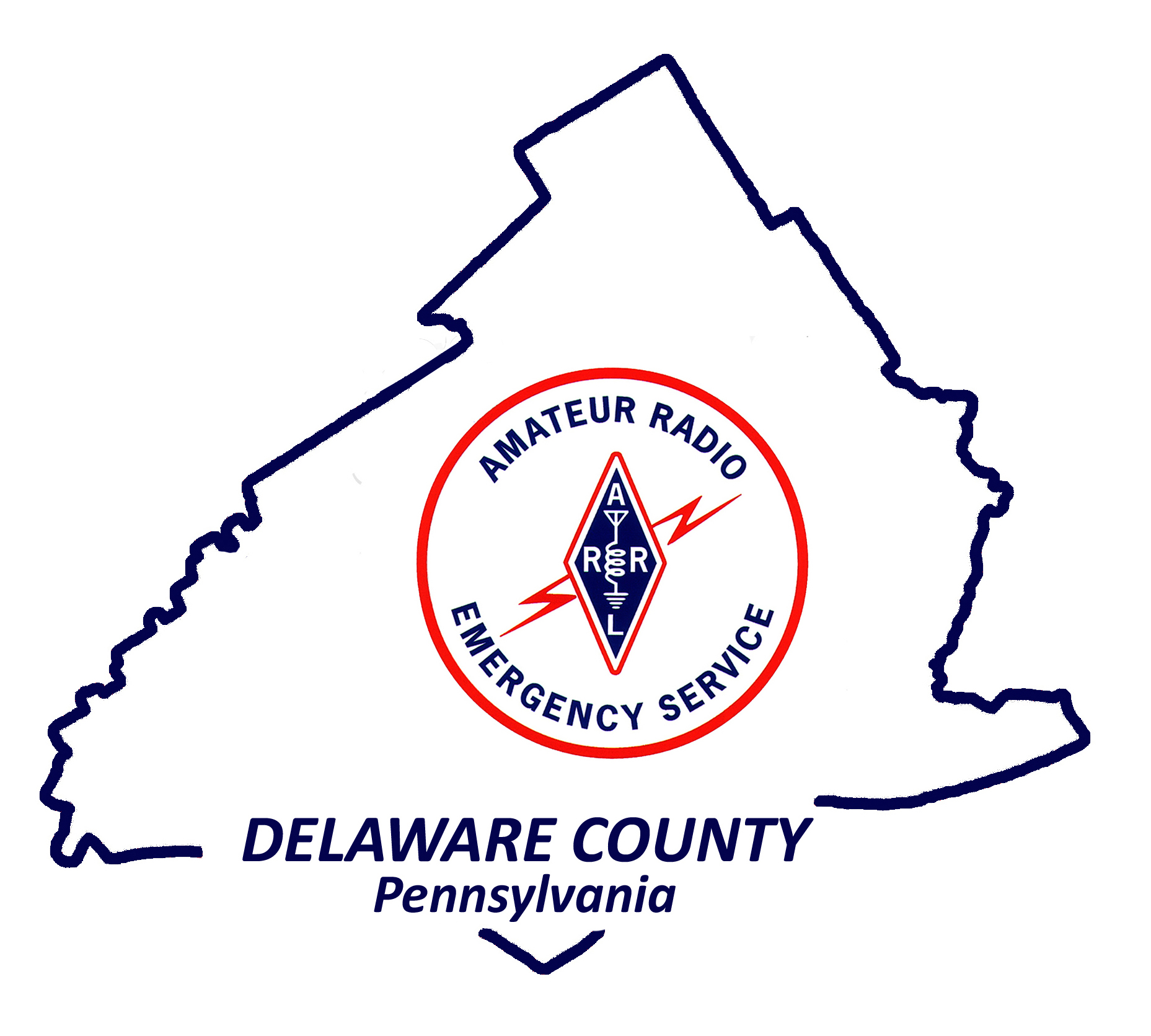 Logo for ARES/RACES of Delaware County Pennsylvania